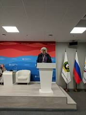 Joe Speaks at Moscow University